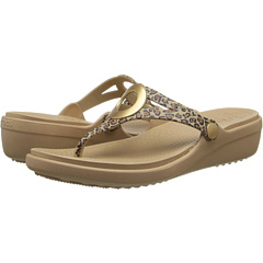 Crocs - Sanrah Leopard Wedge